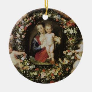 Angels Madonna and Child Rubens Fine Art Christmas Ornament