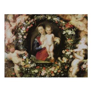 Angels Madonna and Child Rubens Fine Art Postcard