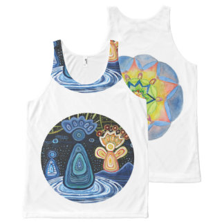 Angels Mandala Art All-Over Printed Unisex Vest