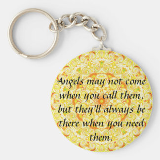Angels may not come when you call them, but they.. basic round button key ring