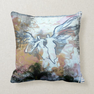Angels Mural Throw Pillows