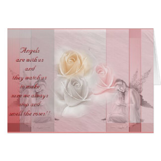 Angels n roses greeting card