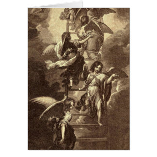 Angels On A Celestial Ladder Card