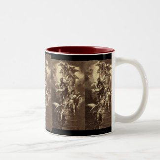 Angels On A Celestial Ladder Two-Tone Coffee Mug