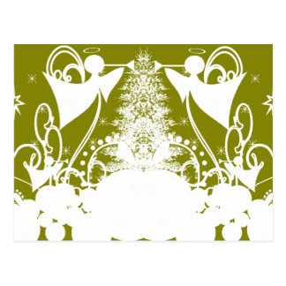 Angels on Green Postcard