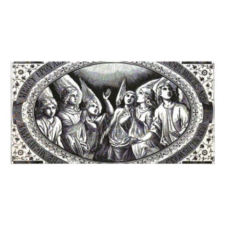 angels photo greeting card