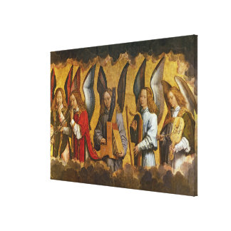 Angels Playing Musical Instruments Canvas Print