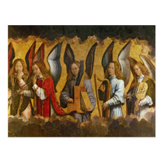 Angels Playing Musical Instruments Post Card