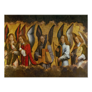 Angels Playing Musical Instruments Poster