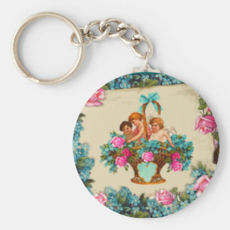 Angels&Roses Basic Round Button Key Ring