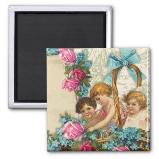 Angels&Roses Square Magnet