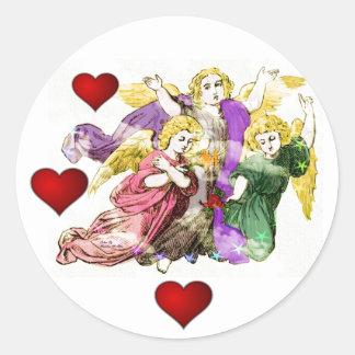 Angels Round Sticker