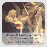 Angels Serenade Mary Christmas Address Label Square Sticker