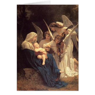 Angels Serenade Mary Vintage Christmas Card