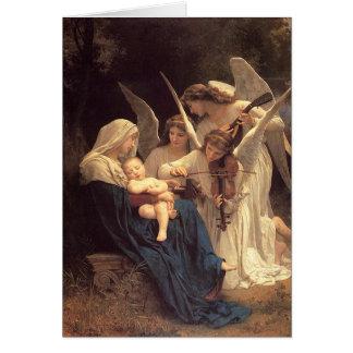 Angels Serenade Mary Vintage Christmas Greeting Card