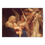 Angels Venerating the Christ Child by Bougereau Card