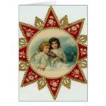 Angels vintage Christmas card