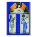 Angels & Virgin Easter Card