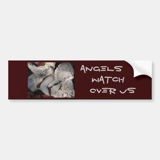 Angels, Watch Over Us Bumper Sticker