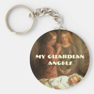 angels watching over children, My GuardianAngels Basic Round Button Key Ring