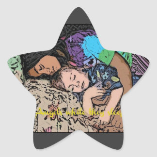 Angels while they sleep. star stickers