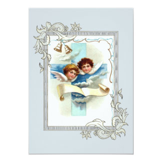 Angels With Cross And Scroll Card