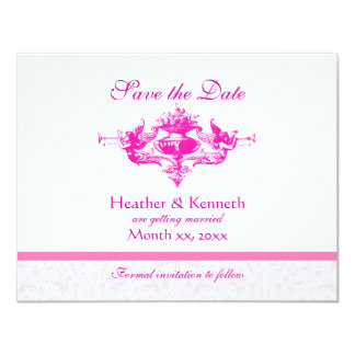 Angels with Trumpets, Save the Date 11 Cm X 14 Cm Invitation Card
