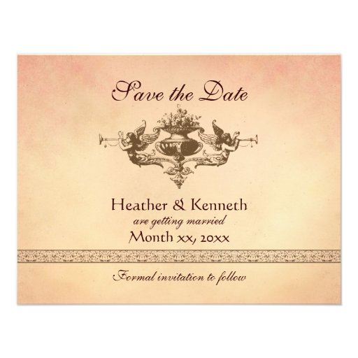 Angels with Trumpets, Save the Date Custom Announcement