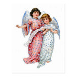 Angels With Vintage Dresses And Music Notes