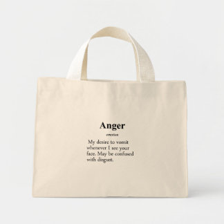 Anger Definition Mini Tote Bag