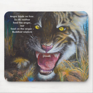 Anger feeds on fear - Wild animal Mousepad