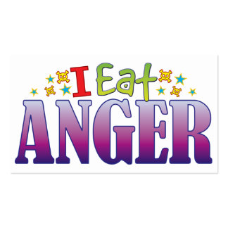 Anger I Eat Pack Of Standard Business Cards