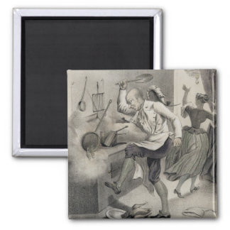 Anger in the Kitchen, from a series of prints depi Fridge Magnet
