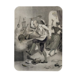 Anger in the Kitchen, from a series of prints depi Rectangular Photo Magnet