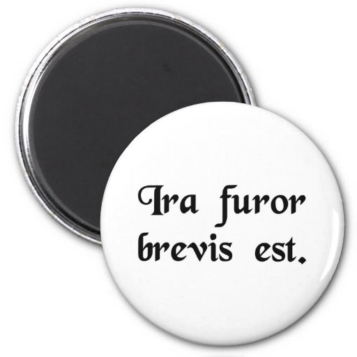 Anger is a brief insanity. fridge magnet