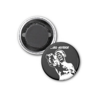 anger is a gift... 3 cm round magnet