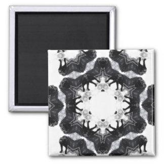 Anger Kaleidoscope 4 Square Magnet