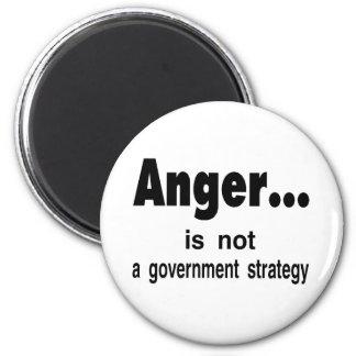 anger 6 cm round magnet