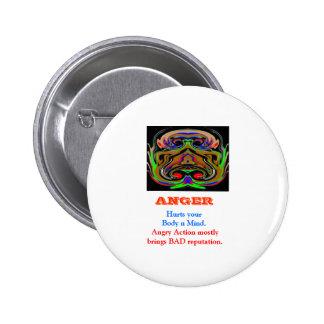 ANGER Management 6 Cm Round Badge