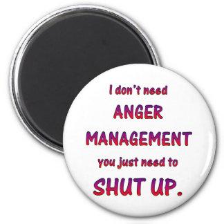 Anger Management 6 Cm Round Magnet
