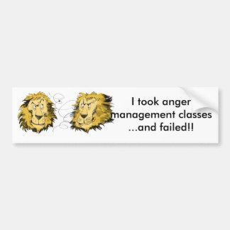 Anger management bumper sticker