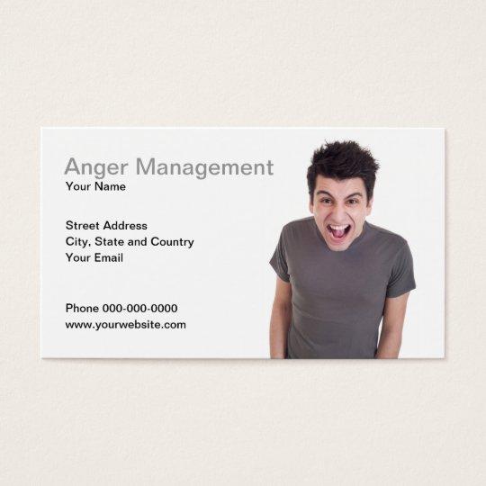 Anger Management Business Card