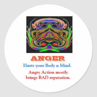 ANGER Management Classic Round Sticker