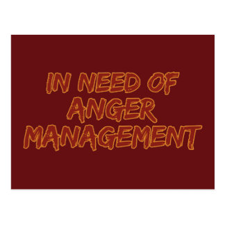 Anger Management custom postcard