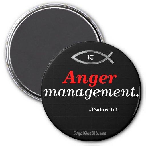 Anger management gotGod316.com Psalms 4:4 Magnet