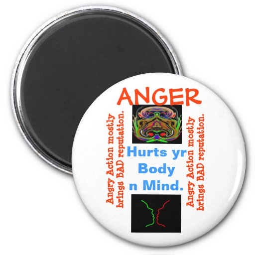 ANGER Management - some one needs your help Refrigerator Magnets