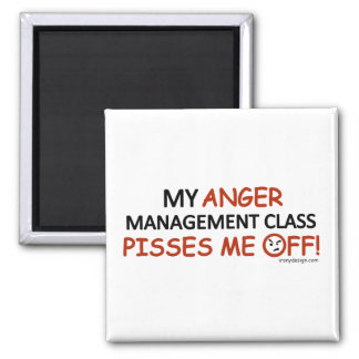 Anger Management Square Magnet