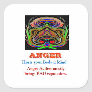 ANGER Management Square Sticker