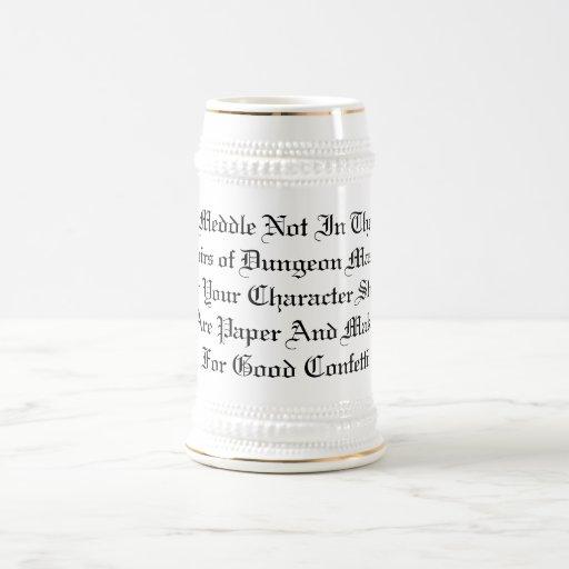 Anger Not The DM Beer Stein