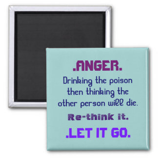 anger rethink it square magnet
